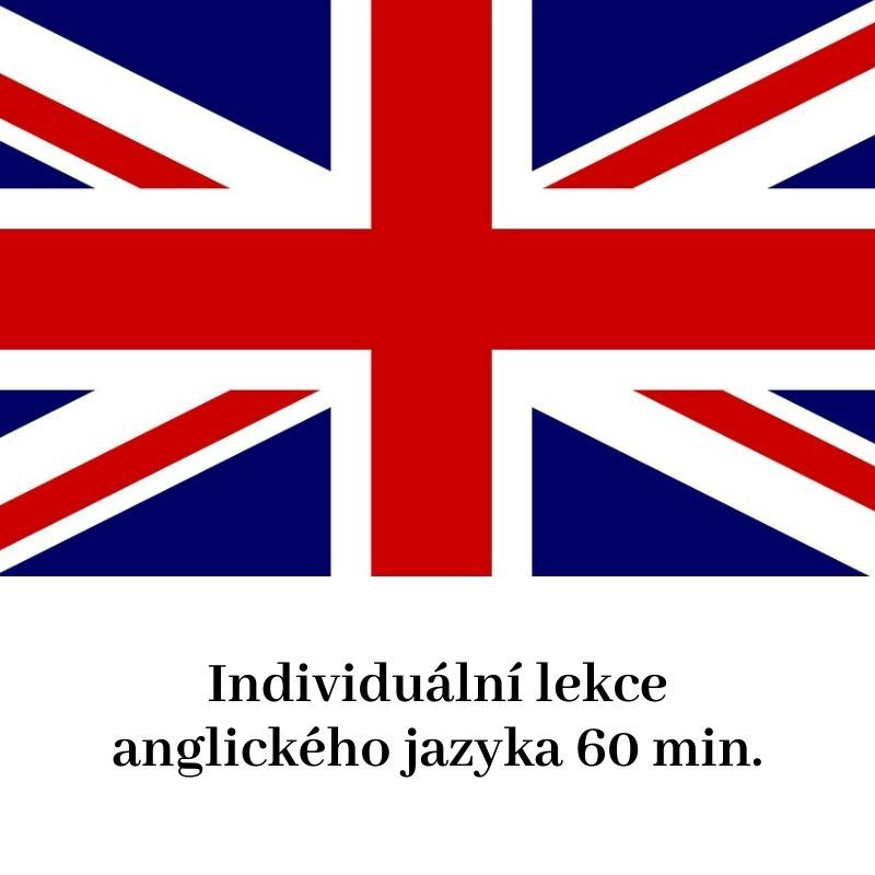 Individuální lekce anglického jazyka 60 min.